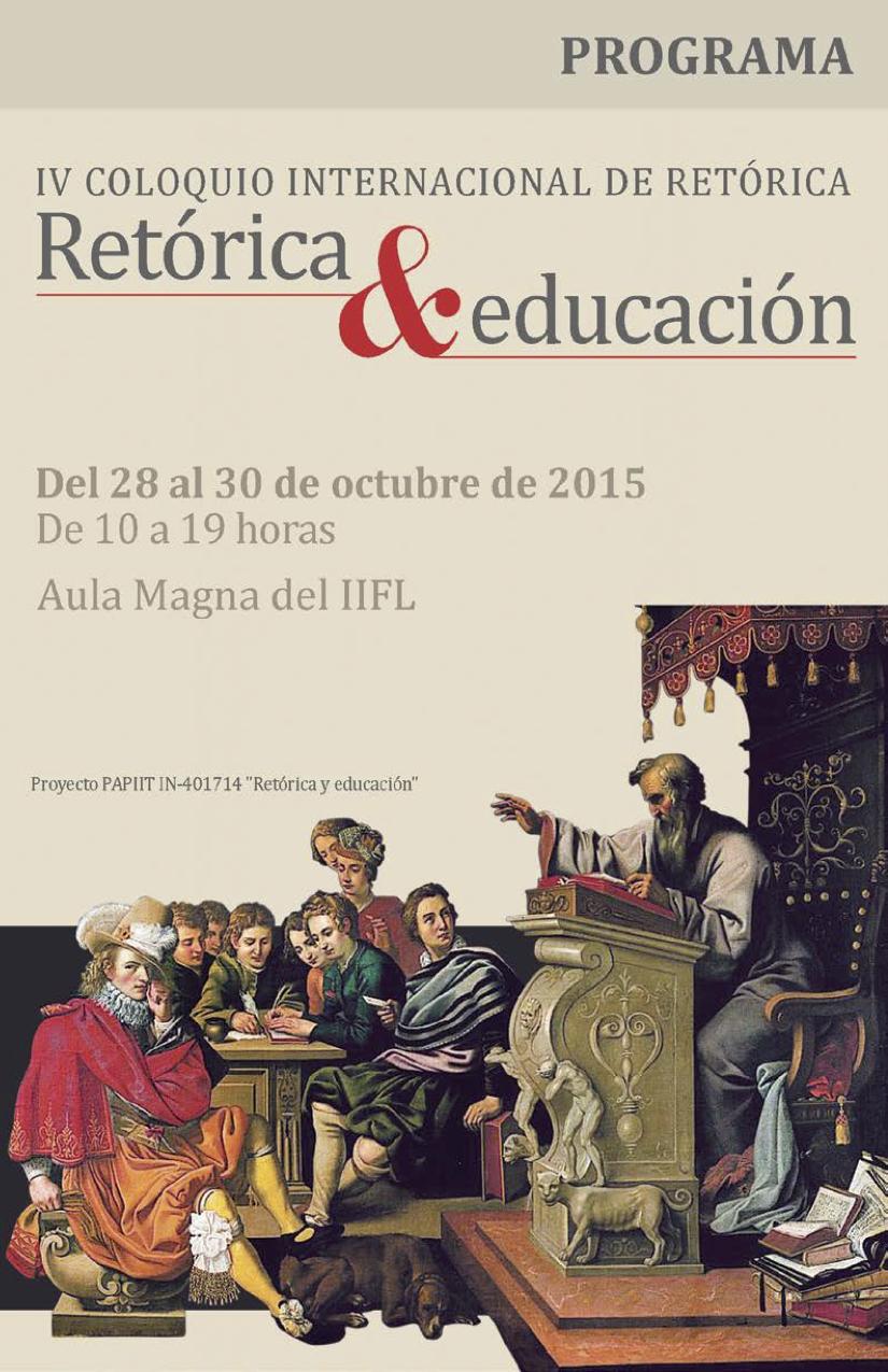 Programa, IV Coloquio Internacional de Retórica